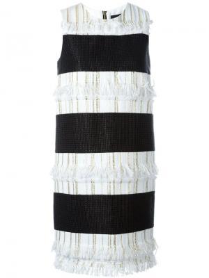 Платье с полоску Marco Bologna. Цвет: чёрный