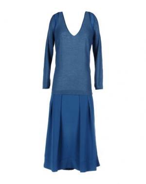 Короткое платье MALÌPARMI. Цвет: пастельно-синий