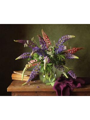 Набор для вышивки бисером Бордо Матренин Посад. Цвет: синий, зеленый, коричневый