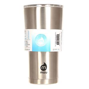 Термокружка  Tumbler 20 Stainless Black Drip Mizu. Цвет: серый