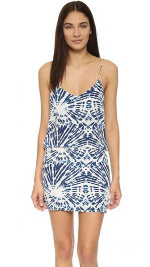 Мини-платье Costa Rica MIKOH. Цвет: голубой волнистый прибрежный