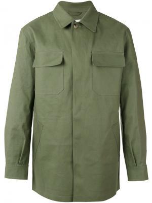 Куртка рубашечного типа с накладными карманами Mackintosh. Цвет: зелёный