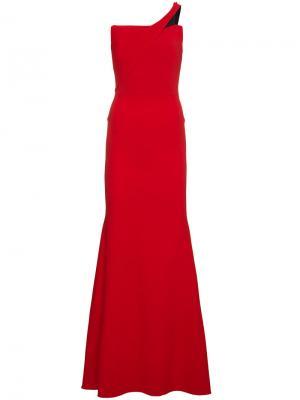 Длинное платье с открытыми плечами Lockton Roland Mouret. Цвет: красный