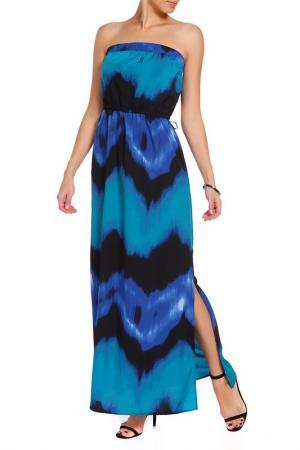 Платье Apart. Цвет: синий, многоцветный