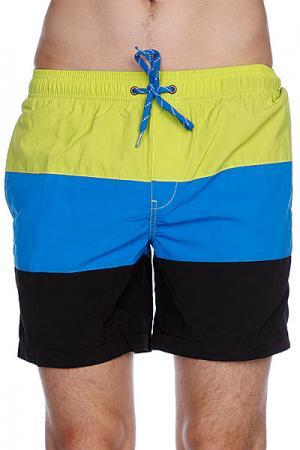 Пляжные мужские шорты  Dana Split Pool Short Lime Globe. Цвет: черный,синий,желтый