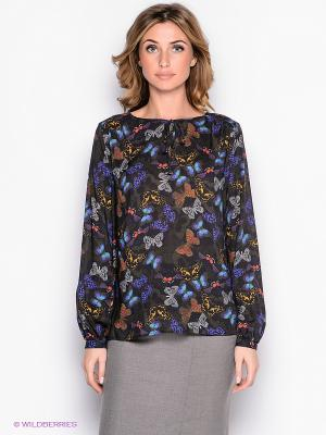 Блузка Yulia Dushina. Цвет: темно-серый, фиолетовый, красный