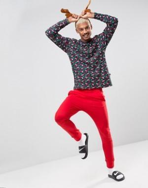 SSDD Новогодняя пижама. Цвет: красный