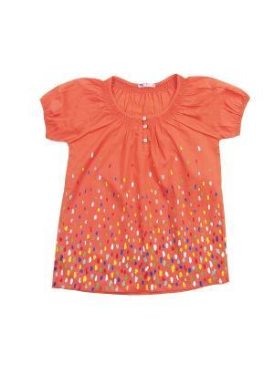 Блузка для девочки Cherubino. Цвет: персиковый
