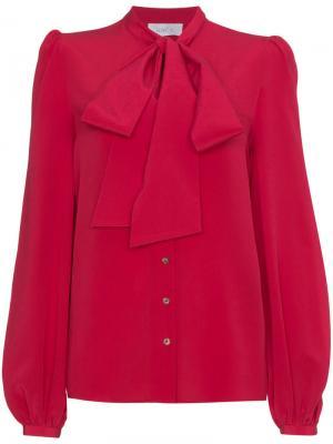 Блузка с завязкой Lady Racil. Цвет: красный