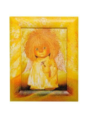 Картина С гиацинтом Artangels. Цвет: желтый, оранжевый