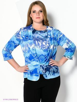 Блуза Klimini. Цвет: голубой