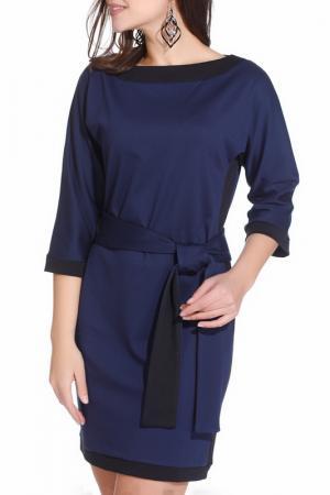 Платье Gloss. Цвет: темно-синий, черный