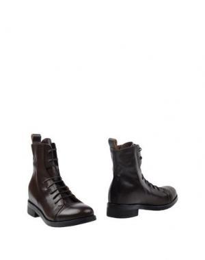 Полусапоги и высокие ботинки LILIMILL. Цвет: темно-коричневый