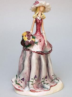 Фигурка Девушка Pavone. Цвет: серый (осн.), розовый