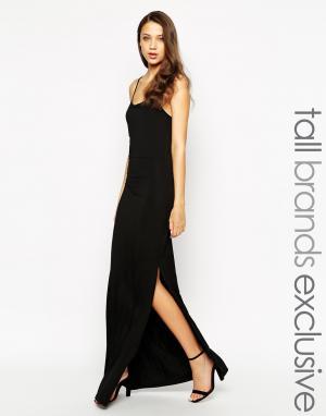 Taller Than Your Average Платье макси с решетчатой спинкой TTYA. Цвет: черный