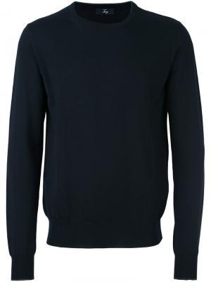 Классический свитер Fay. Цвет: синий