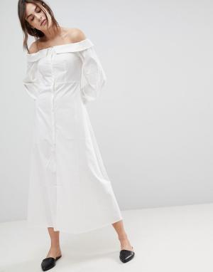 Style Mafia Платье макси Stylemafia Rimal. Цвет: белый