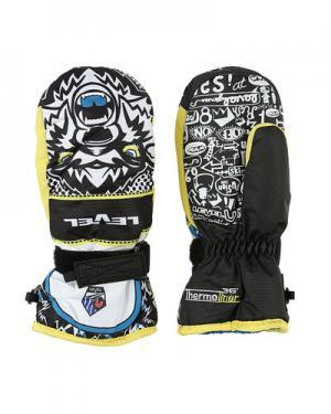 Лыжные рукавицы  Junior level. Цвет: черный с желтым