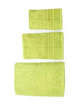 Комплект полотенец 3 шт. Arloni. Цвет: зеленый