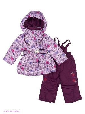 Комплект для девочки демисезонный /куртка, полукомбинезон/ Rusland. Цвет: сиреневый