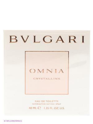 Тулетная вода Bvlgari Omnia Crystalline, 40 мл. Цвет: прозрачный