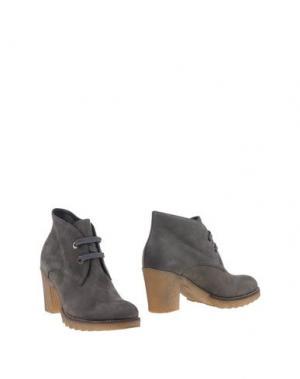 Полусапоги и высокие ботинки GIONATA. Цвет: свинцово-серый