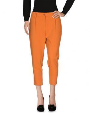 Брюки-капри HOPPER. Цвет: оранжевый