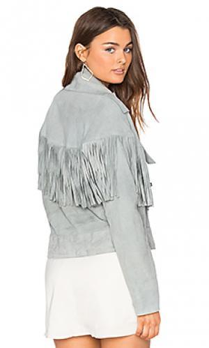 Куртка с бахромой thelma SIR the label. Цвет: серый