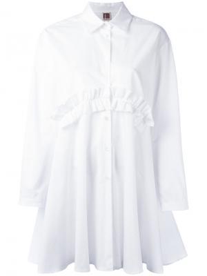 Платье с оборками IM Isola Marras I'M. Цвет: красный