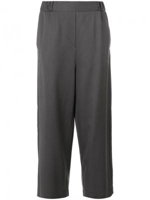 Укороченные широкие брюки Mm6 Maison Margiela. Цвет: серый