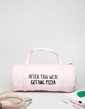BAN DO Спортивная сумка с надписью After This Were Getting Pizza от Ban.Do. Цвет: мульти