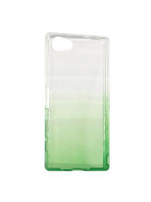Крышка задняя для Sony Z5 MINI/Z5 COMPACT Силикон IQ Format. Цвет: зеленый