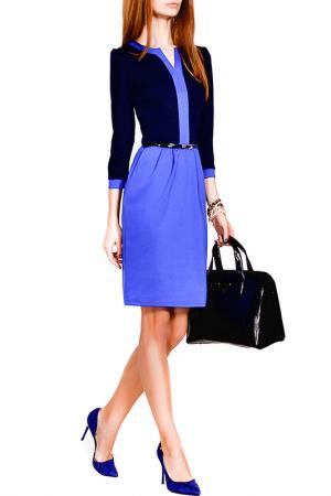 Платье FRANCESCA LUCINI. Цвет: темно-синий, ярко-синий