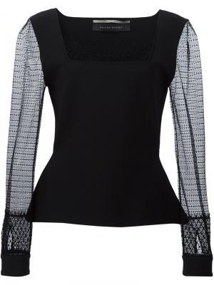 Блузка Caxton Roland Mouret. Цвет: чёрный