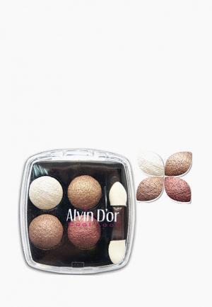 Тени для век Alvin Dor D'or. Цвет: коричневый