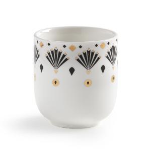 4 чашки для эспрессо MELLAH La Redoute Interieurs. Цвет: рисунок + белый