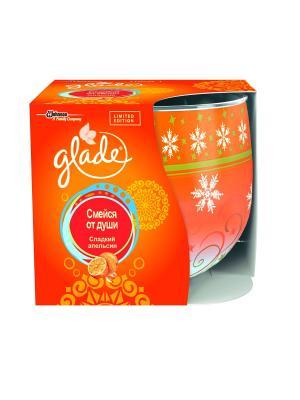Ароматизированная свеча Glade Сладкий апельсин (Смейся от души). Цвет: оранжевый