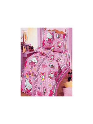 Постельное белье Бантики Арт Постель. Цвет: розовый