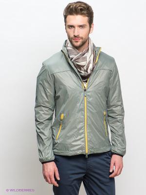 Куртка GEOX. Цвет: серый, желтый