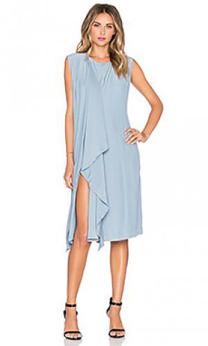 Шелковое платье philo TY-LR. Цвет: синий