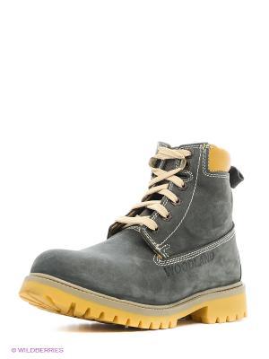 Ботинки WOODLAND. Цвет: серый