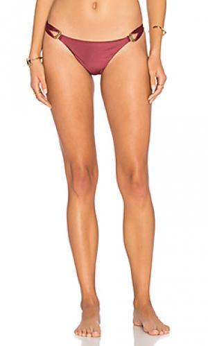 Сплошные плавки бикини thai Vix Swimwear. Цвет: вишня
