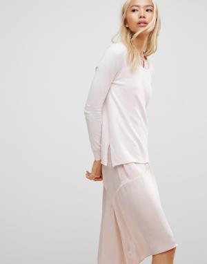 Subtle Luxury Длинный джемпер Joy. Цвет: розовый