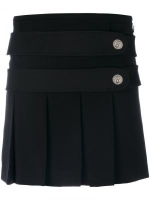 Straight mini skirt Versus. Цвет: чёрный