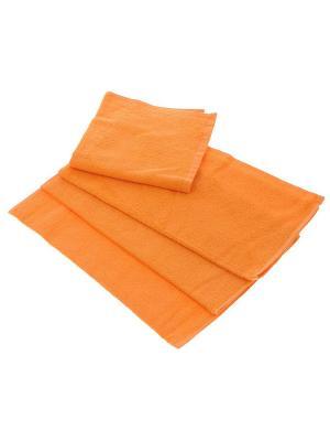 Махровое полотенце-оранжевый-70х140-100% хлопок, УзТ-МПБ-004-02-27 Aisha. Цвет: оранжевый