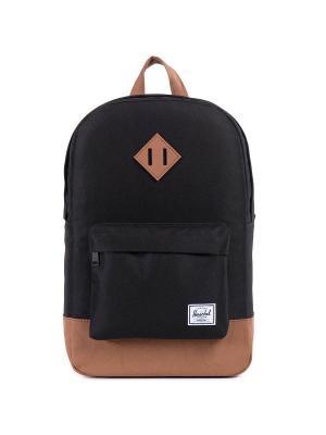 Рюкзак HERITAGE MID-VOLUME (A/S) Herschel. Цвет: черный,светло-коричневый