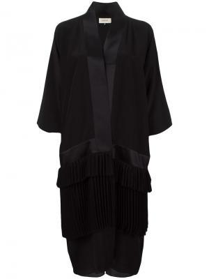 Пальто-кимоно Murmur. Цвет: чёрный