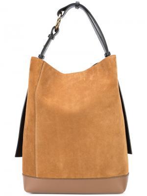 Большая сумка-тоут Marni. Цвет: коричневый