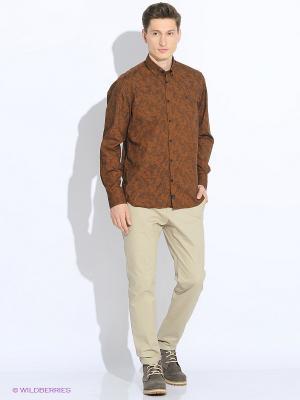 Рубашка LERROS. Цвет: коричневый
