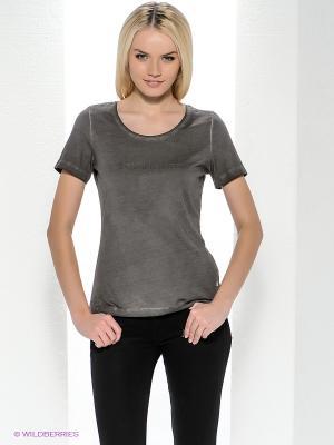 Футболка Bogner Jeans. Цвет: серо-коричневый